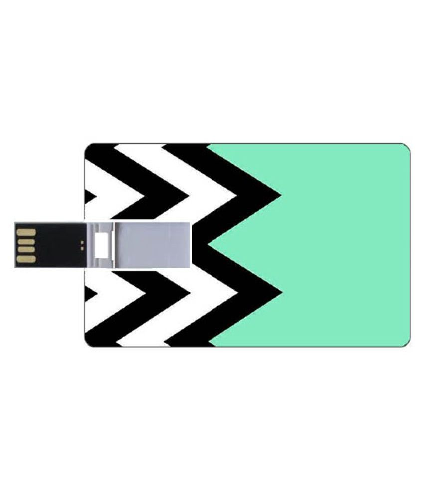 Youberry Credit Card Shape Pendrive Credit Card Shape 16GB USB 2.0 Fancy Pendrive Multicolour