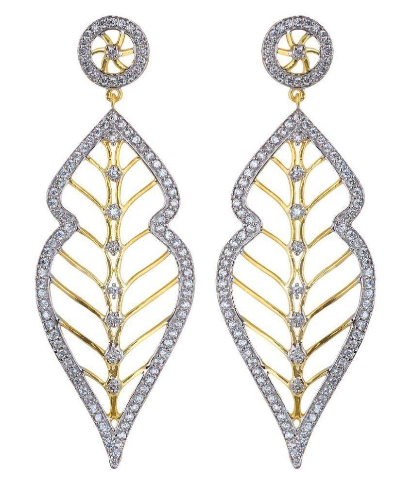 AVS Diamonds Golden Hanging Earrings