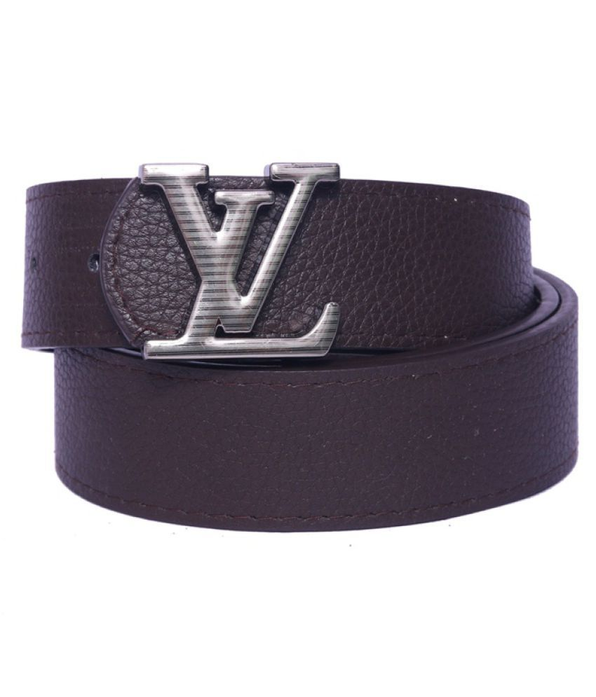 Daller Brown Faux Leather Formal Belts