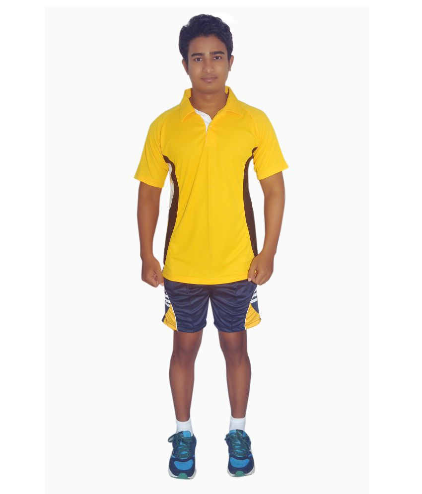 Dyed Colours Yellow V-Neck T-Shirt