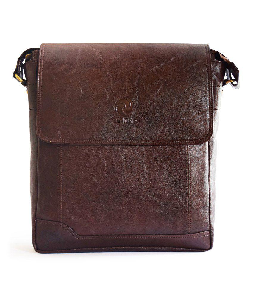 Ochre Laptop messenger Bag   Brown