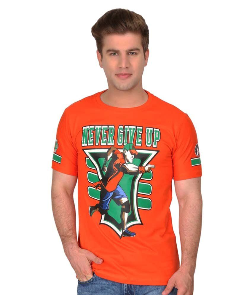 ILYK WWE Orange Round T-Shirt