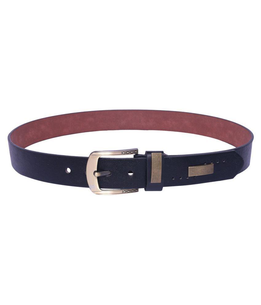 Daller Black Faux Leather Formal Belts