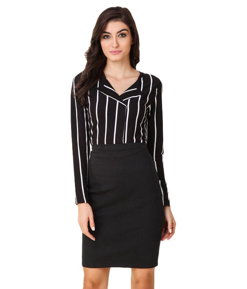 Texco Black Cotton Shirt