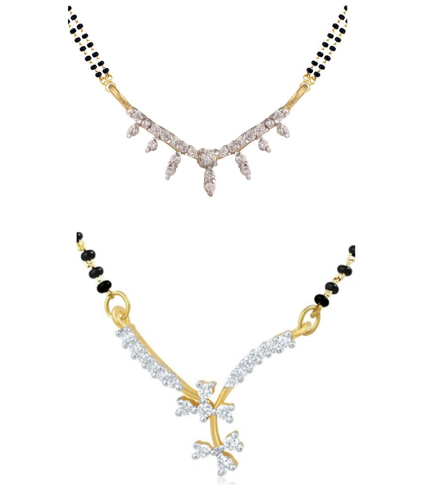 Archi Collection Multicolour Alloy Mangalsutra - Set of 2