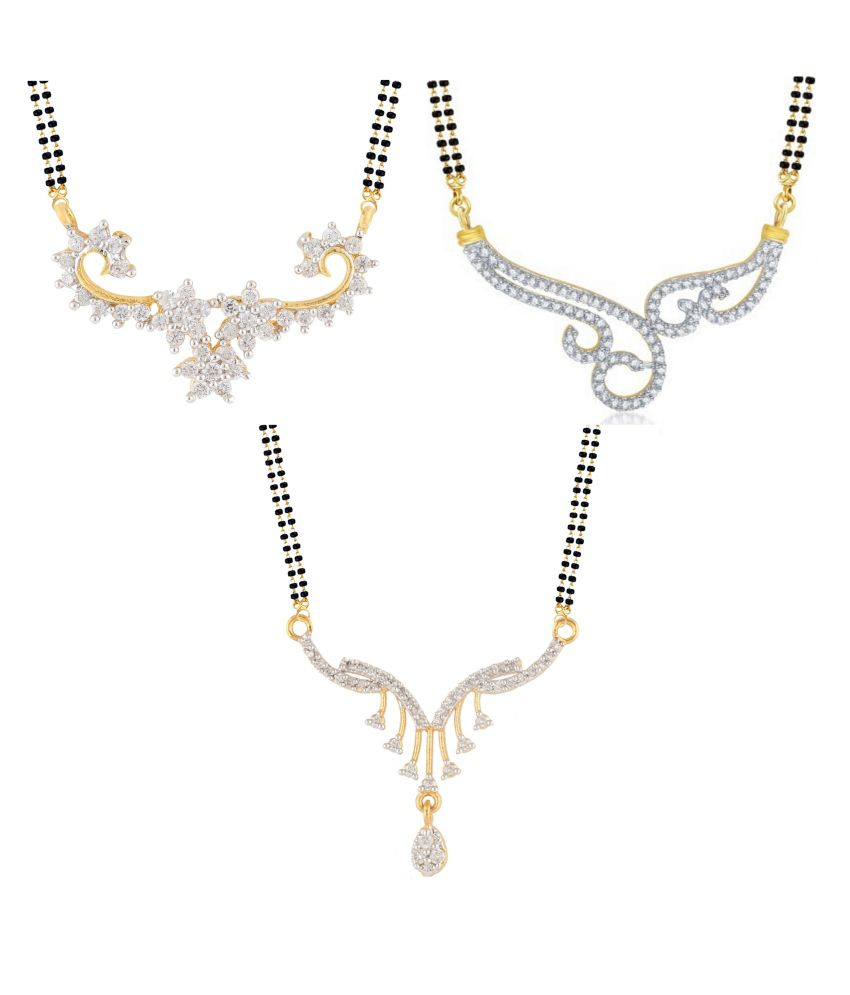 Archi Collection Multicolour Alloy Mangalsutra - Set of 3