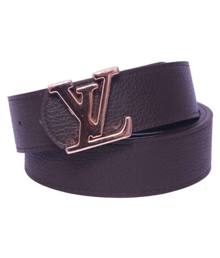 Daller Black Artificial Leather Formal Belts