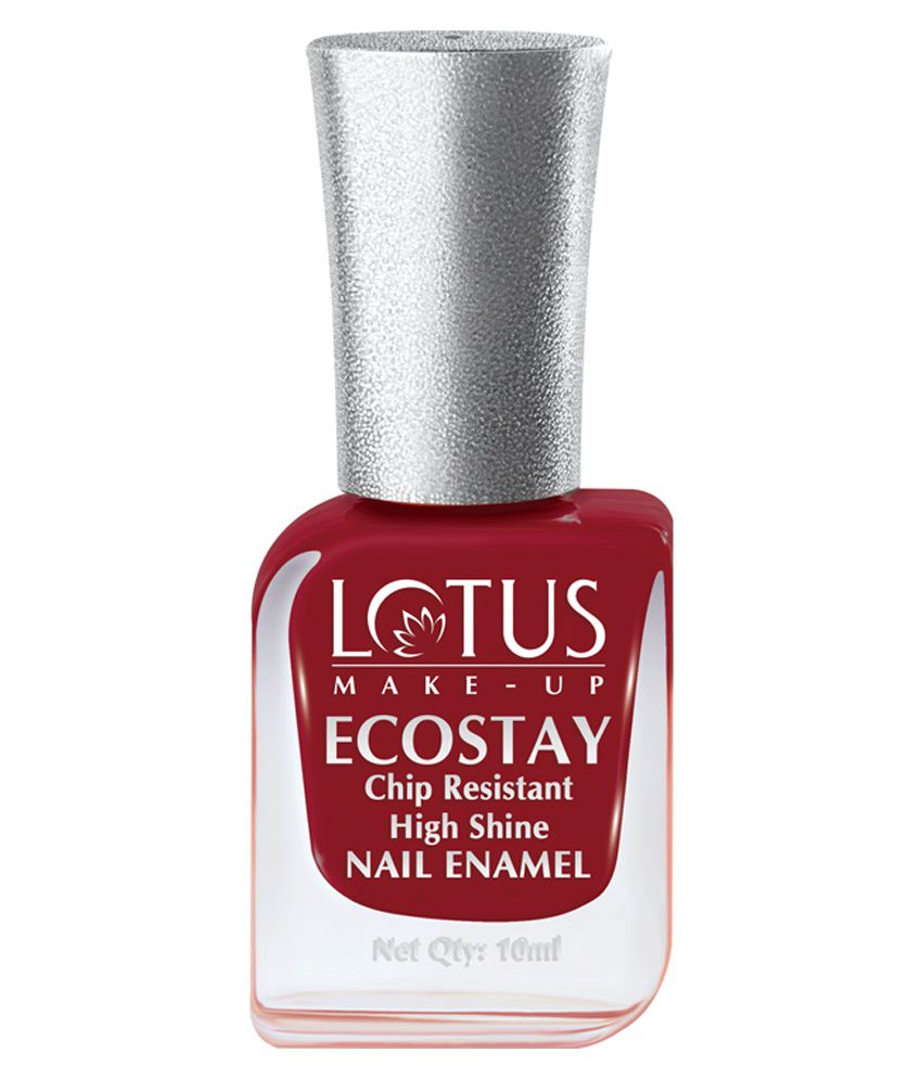 Lotus Make Up Ecostay Maroon Love Nail Paint 10ml Buy Lotus Make Up