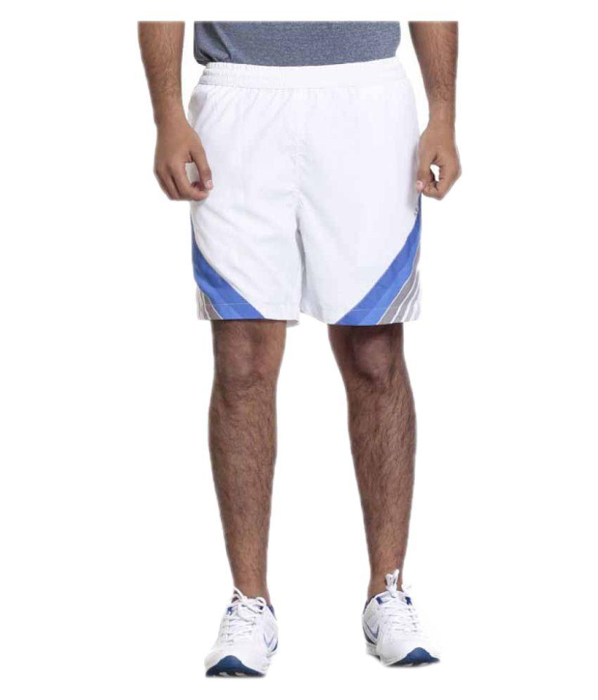 Seven White Polyester Shorts