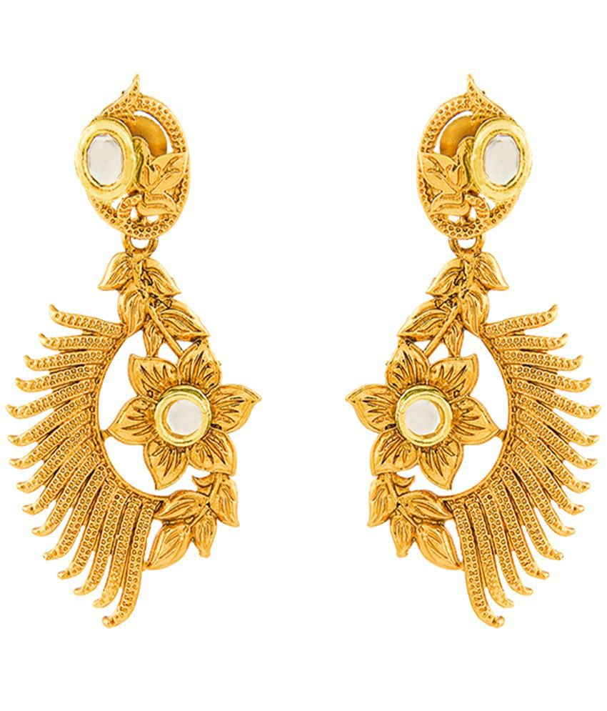 RG Fashions Golden Earrings