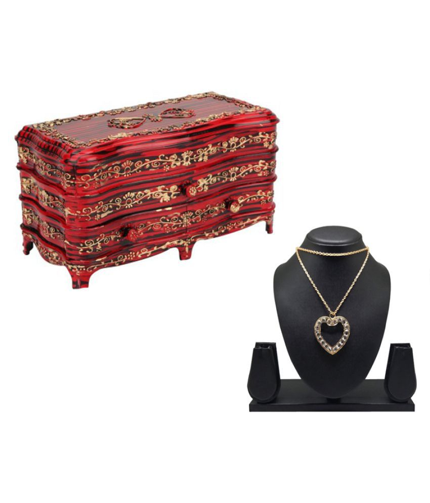 Tuelip Red Plastic Jewellery Box