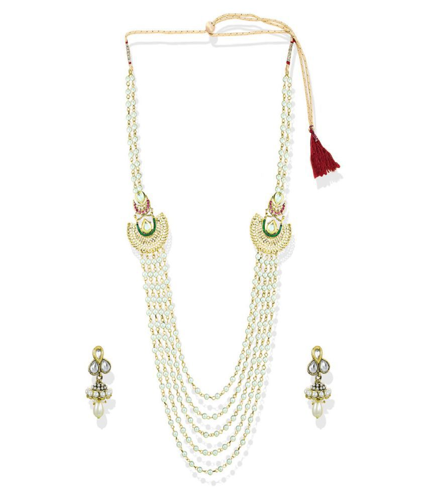 6b7fee0ca Zaveri Pearls White Multi Layered Necklace Set - Buy Zaveri Pearls White Multi  Layered Necklace Set Online at Best Prices in India on Snapdeal