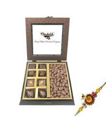 Chocholik Premium Rakhi Gifts - Lovely Treat Of Coated Nutties