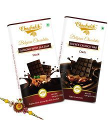 Chocholik Rakhi Gifts - Combo Of Sweet Emotions With Chocolate Bars And With Rakhi For Brother