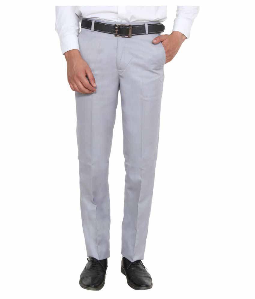 Ansh Fashion Wear Grey Regular Flat