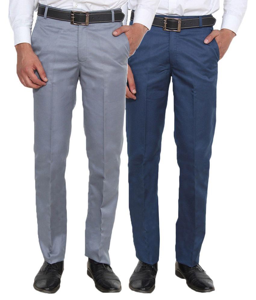Ansh Fashion Wear Multi Regular Flat - Pack Of 2