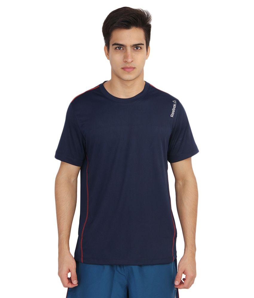 Reebok Navy Round T-Shirt