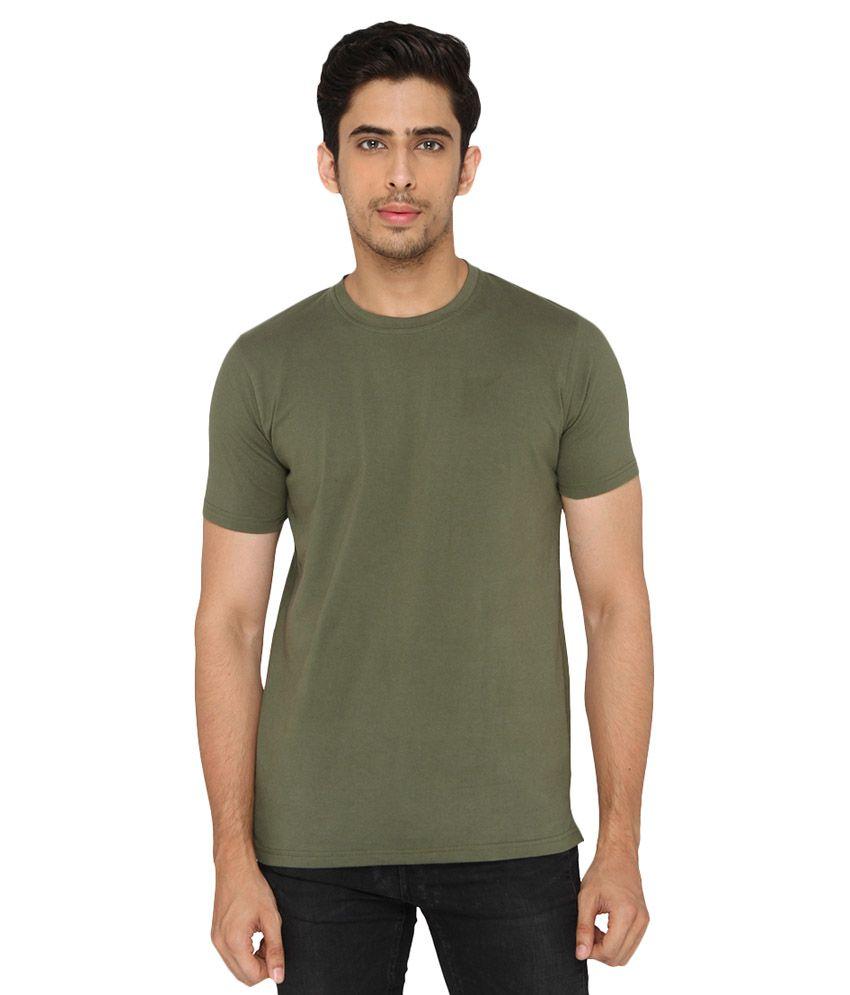 LUCFashion Green Round T-Shirt
