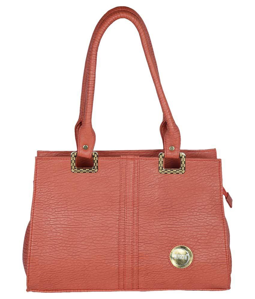 Murcia Brown Faux Leather Shoulder Bag