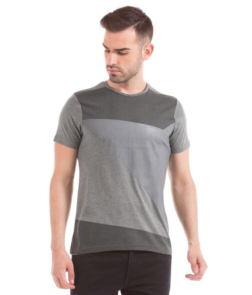 Prym Grey Round Half Solids T-Shirt
