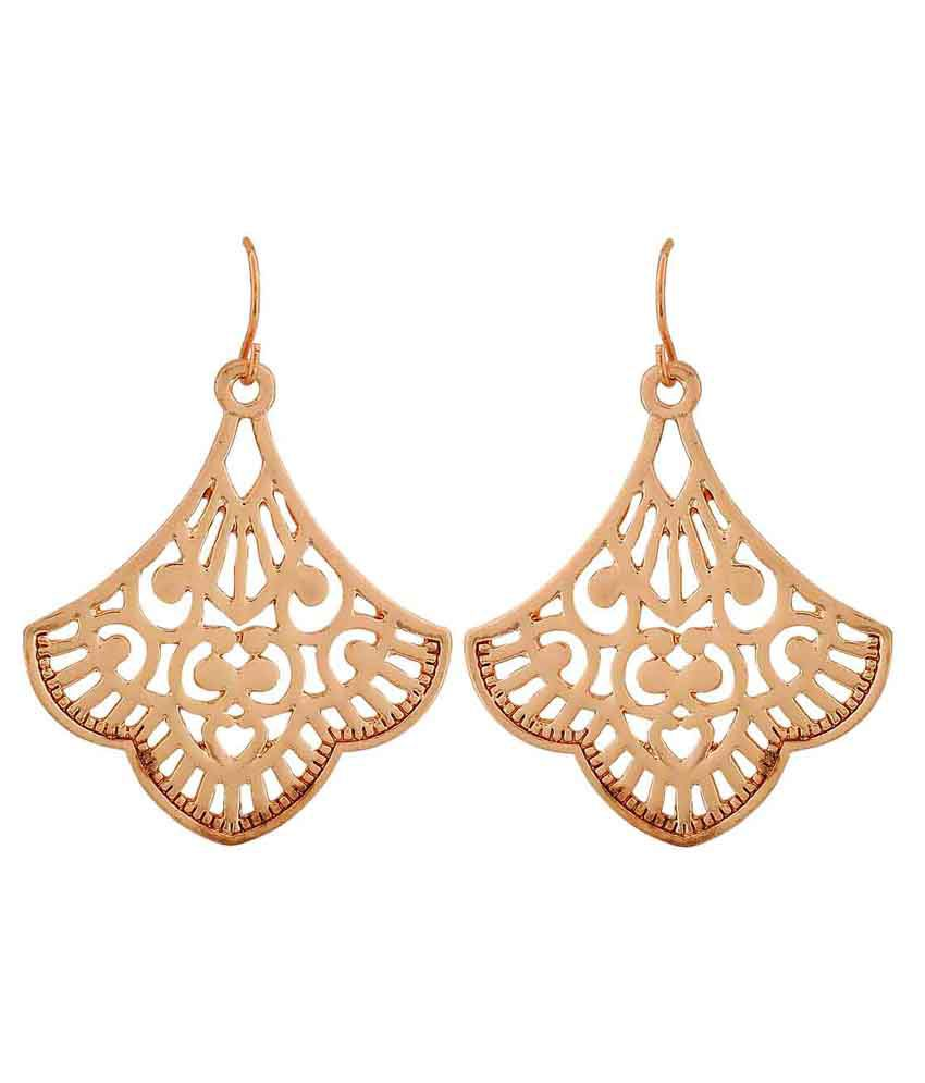Maayra Golden Hanging Earrings
