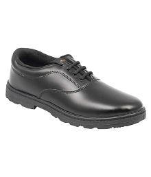 Pollo Black School Shoes for Kids