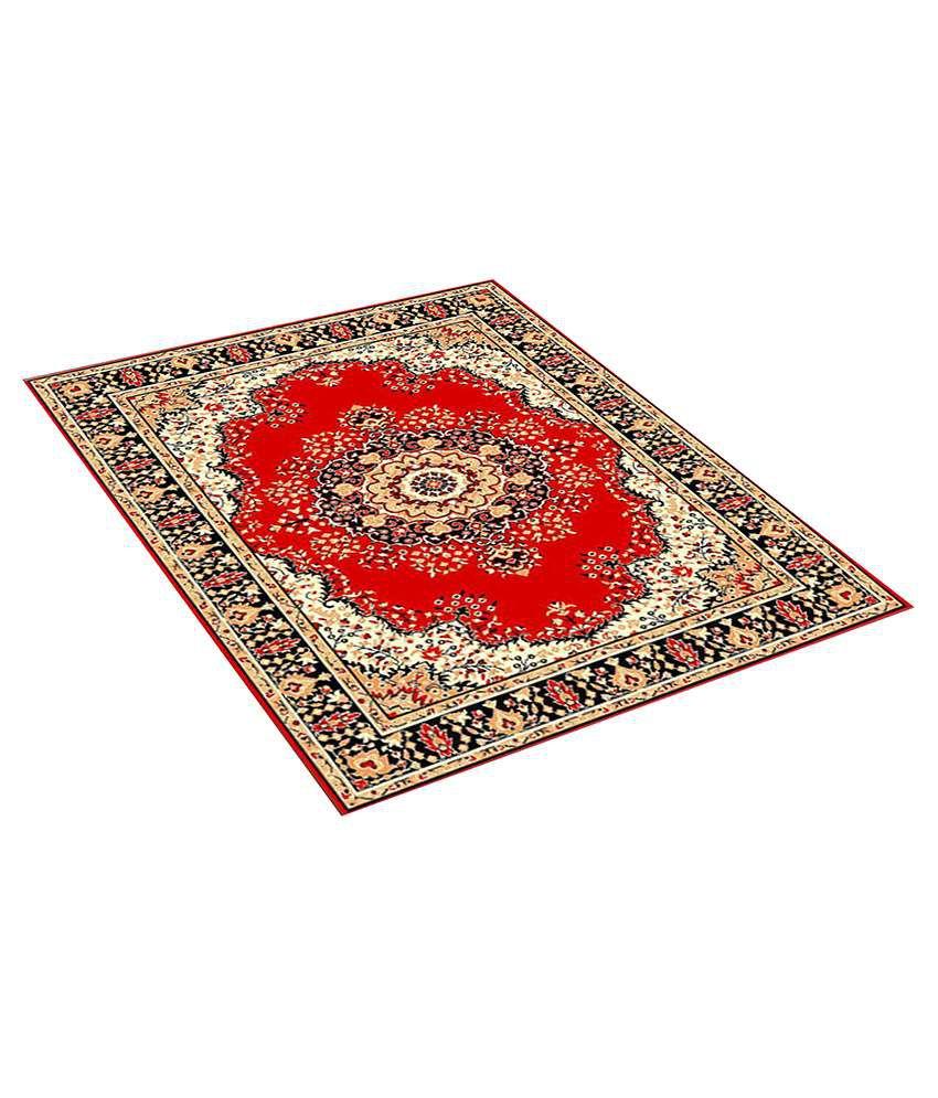 Furnishingland Multi Wool Carpet Ethnic 4x6 Ft.