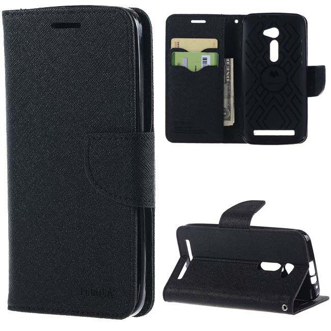 new product 5c841 85a3f Motorola Moto X Play Flip Cover by Goospery - Black