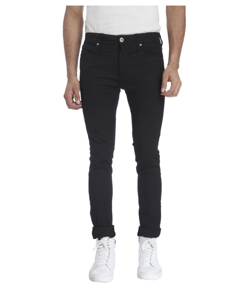 Jack & Jones Black Skinny Solid