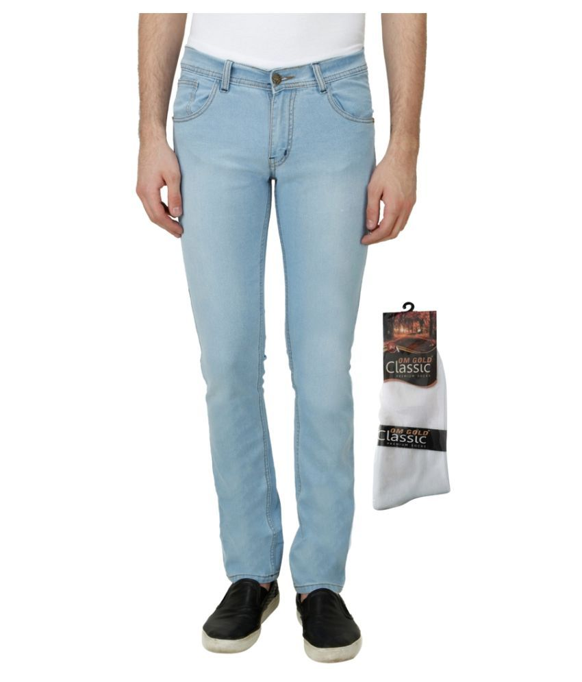 Haltung Blue Slim Faded Jeans