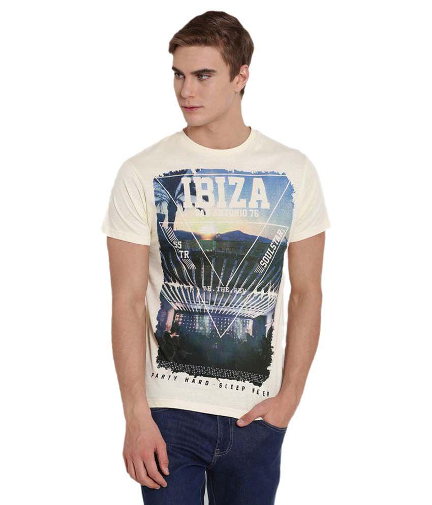 Soulstar Beige Round T-Shirt