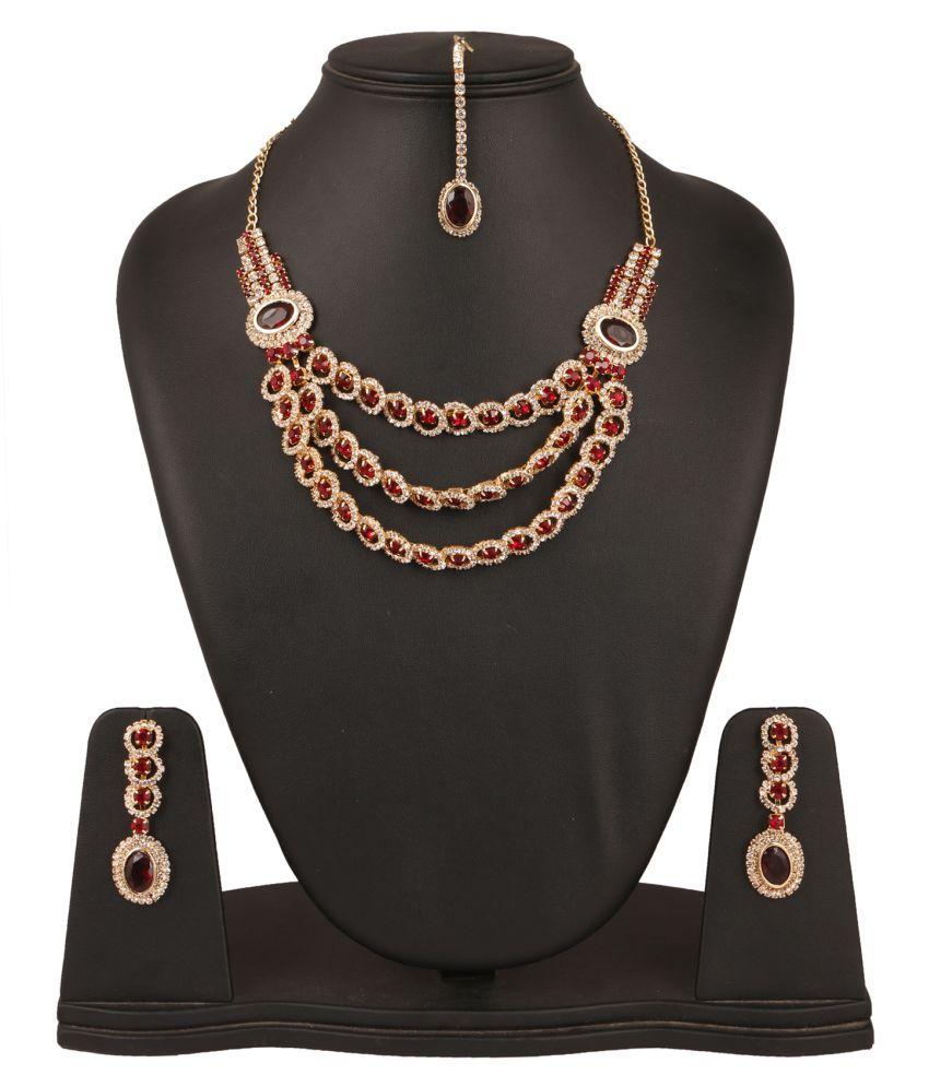 Fanvi Red Necklaces Set