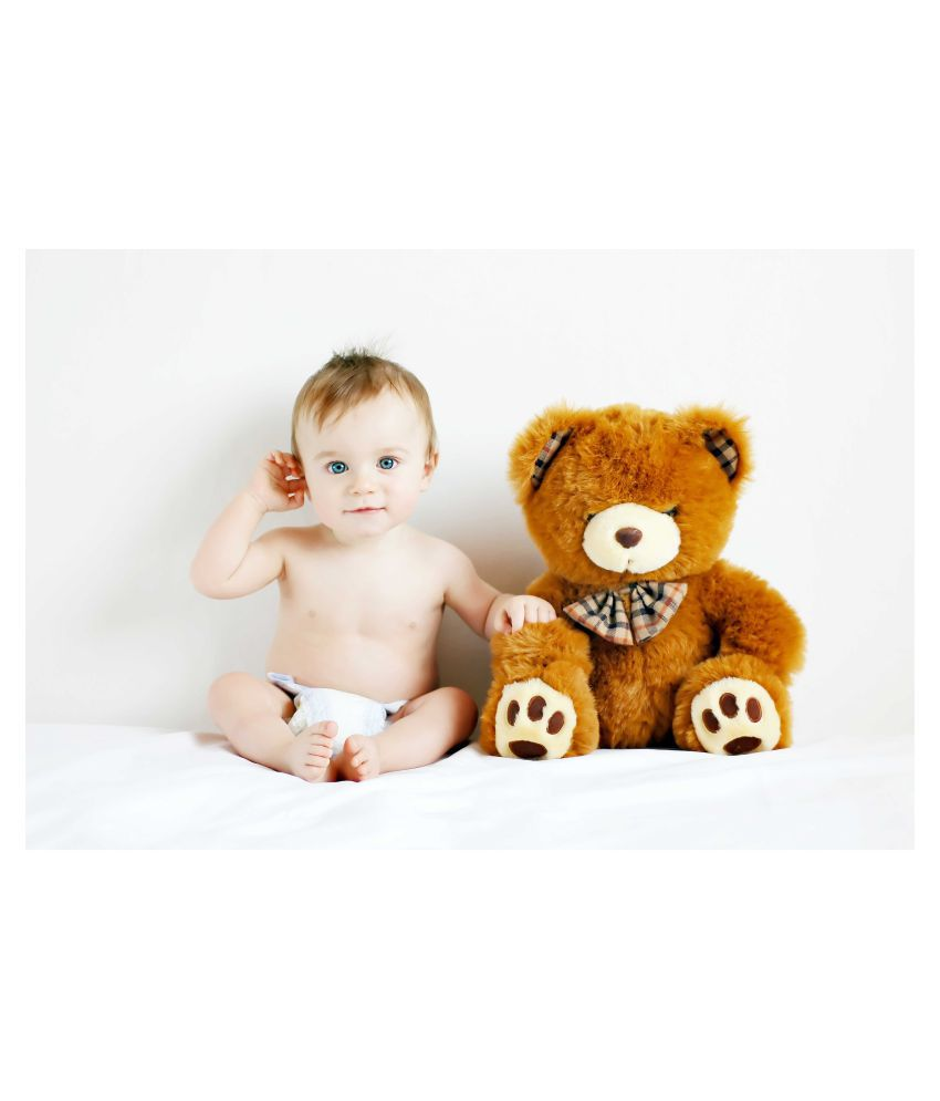 Rawpockets Baby n Teddy Bear Paper Art Prints Without Frame Single ...