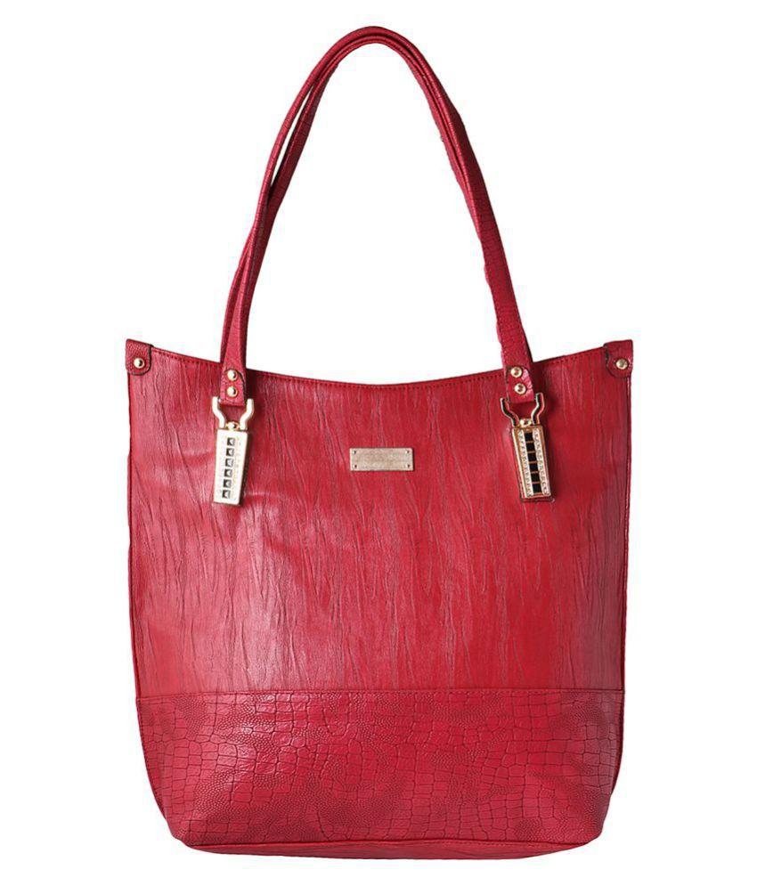 Impress Purse Red Faux Leather Shoulder Bag