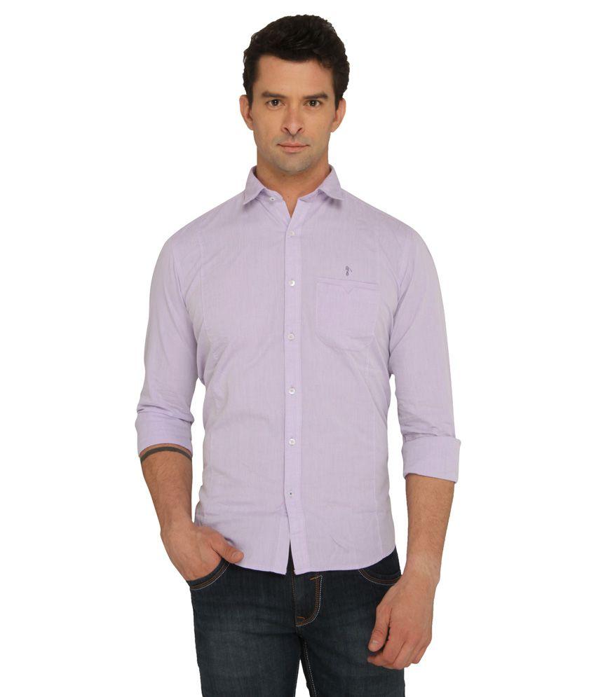 Donear NXG Purple Casuals Slim Fit Shirt