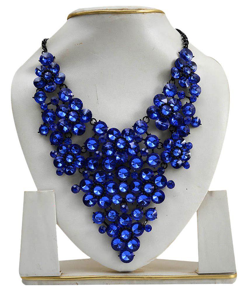 Taj Pearl Blue Necklace