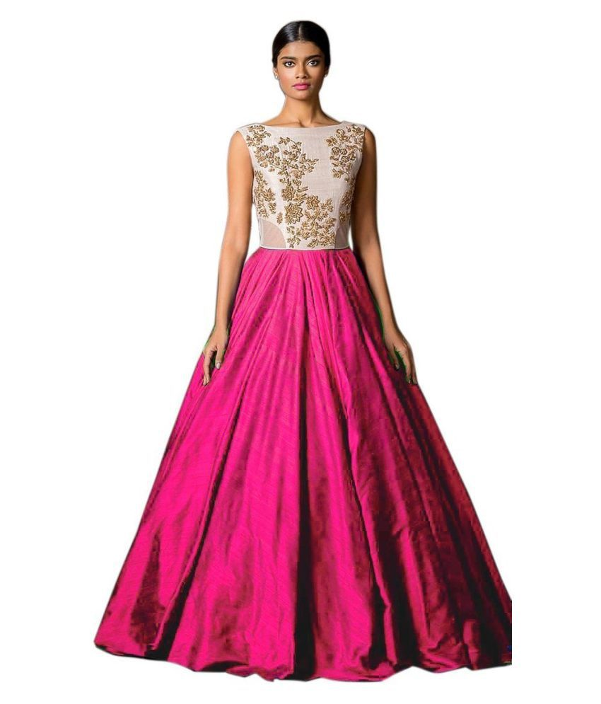 Saryu E Fabric Pink Silk Ball gowns Price in India | Buy Saryu E ...