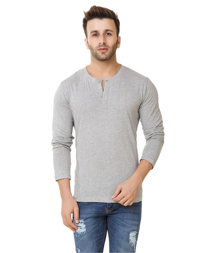 Fabstone Collection Grey Henley T-Shirt