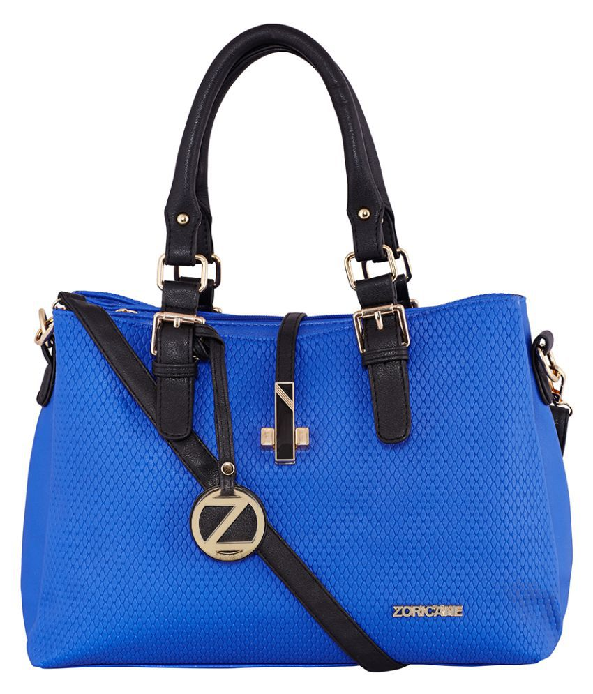 Zoricane Blue Faux Leather Shoulder Bag