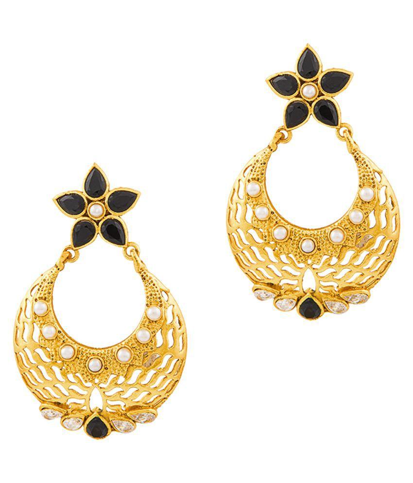 RG Fashions Golden Hanging Earrings