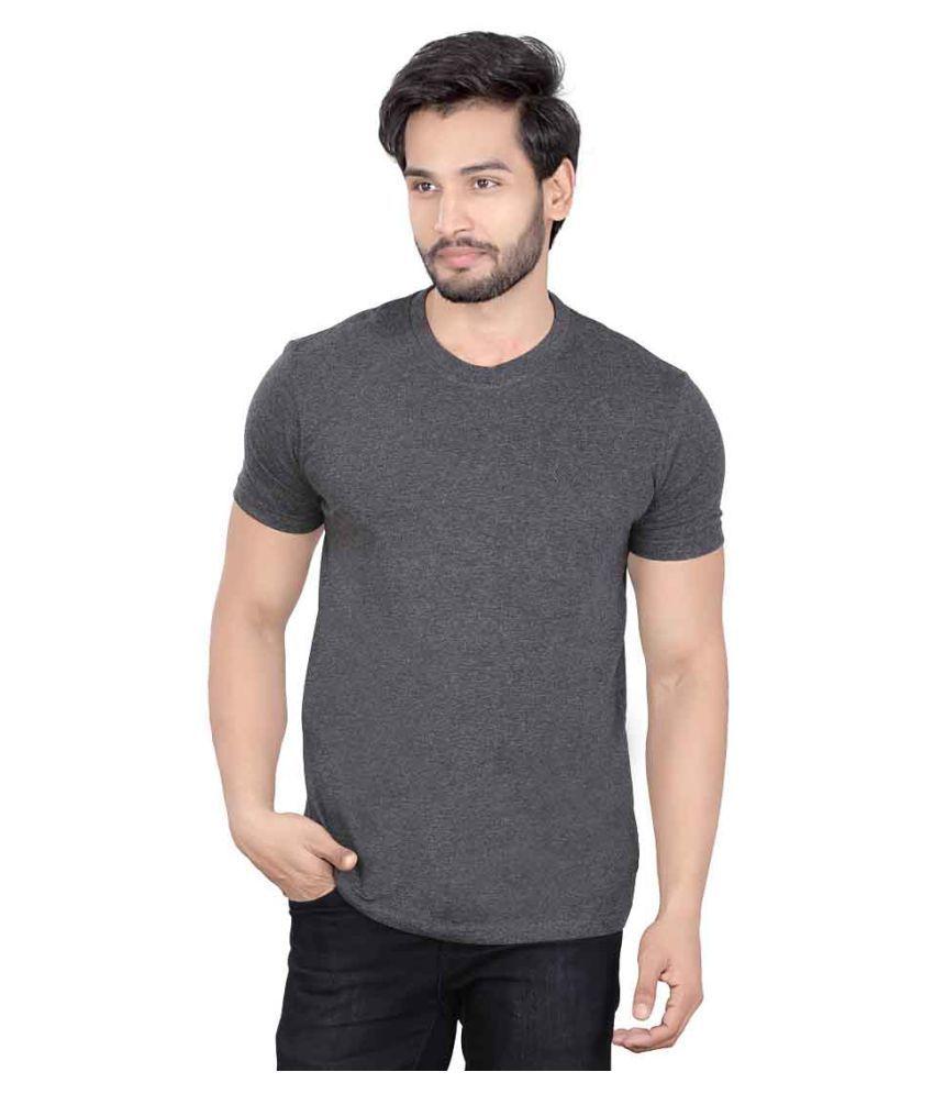 LUCfashion Grey Round T-Shirt