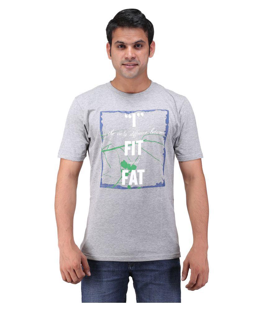 Oneliner Grey Round T-Shirt
