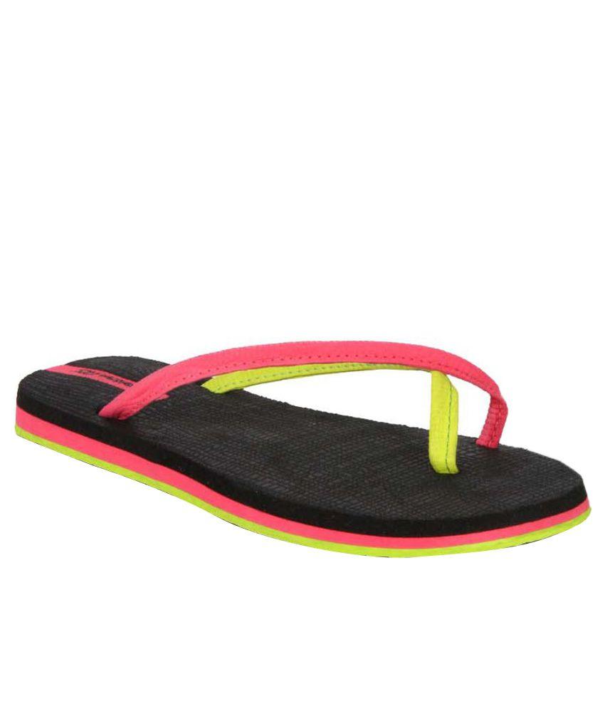Sole Threads Pink & Black Flip Flops