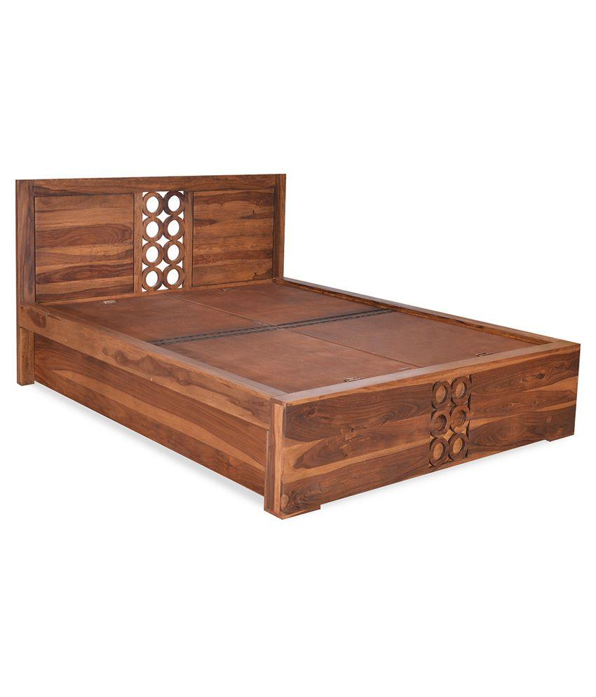 Nilkamal Bedroom Furniture Home By Nilkamal Annulus King Size Solid Wood Storage Bed Buy