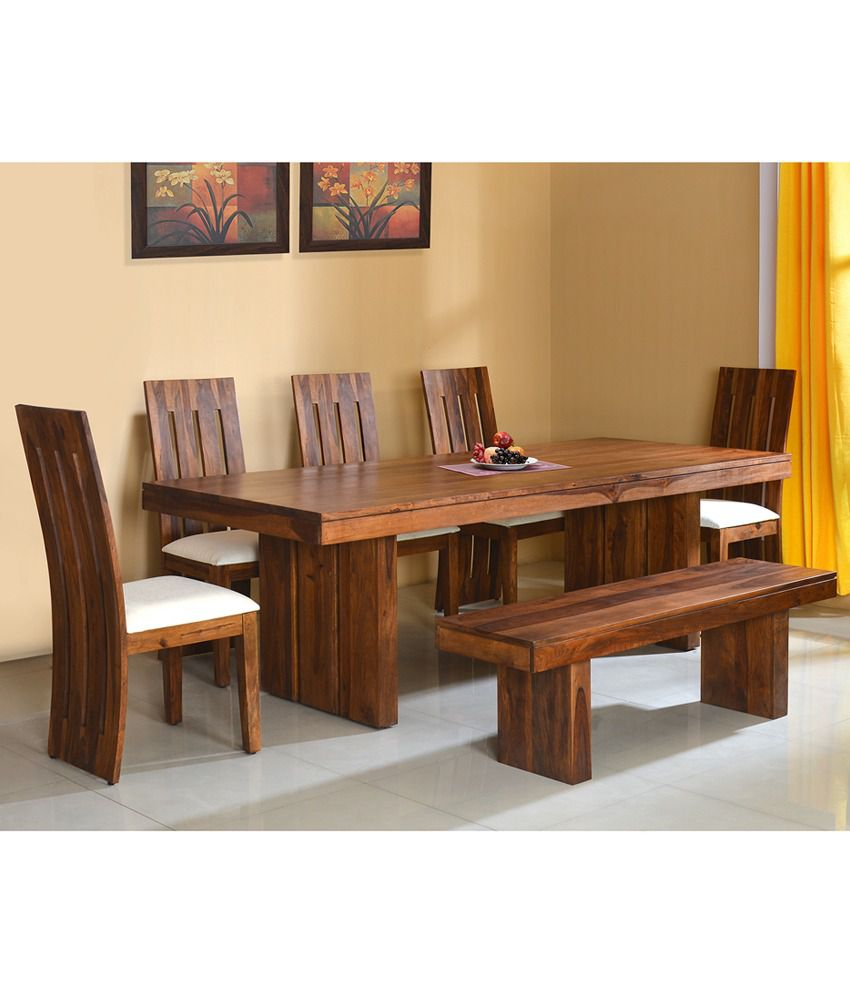 Home By Nilkamal Delmonte Solid Wood 1 5 Bench Dining Set Buy Home By Nilkamal Delmonte