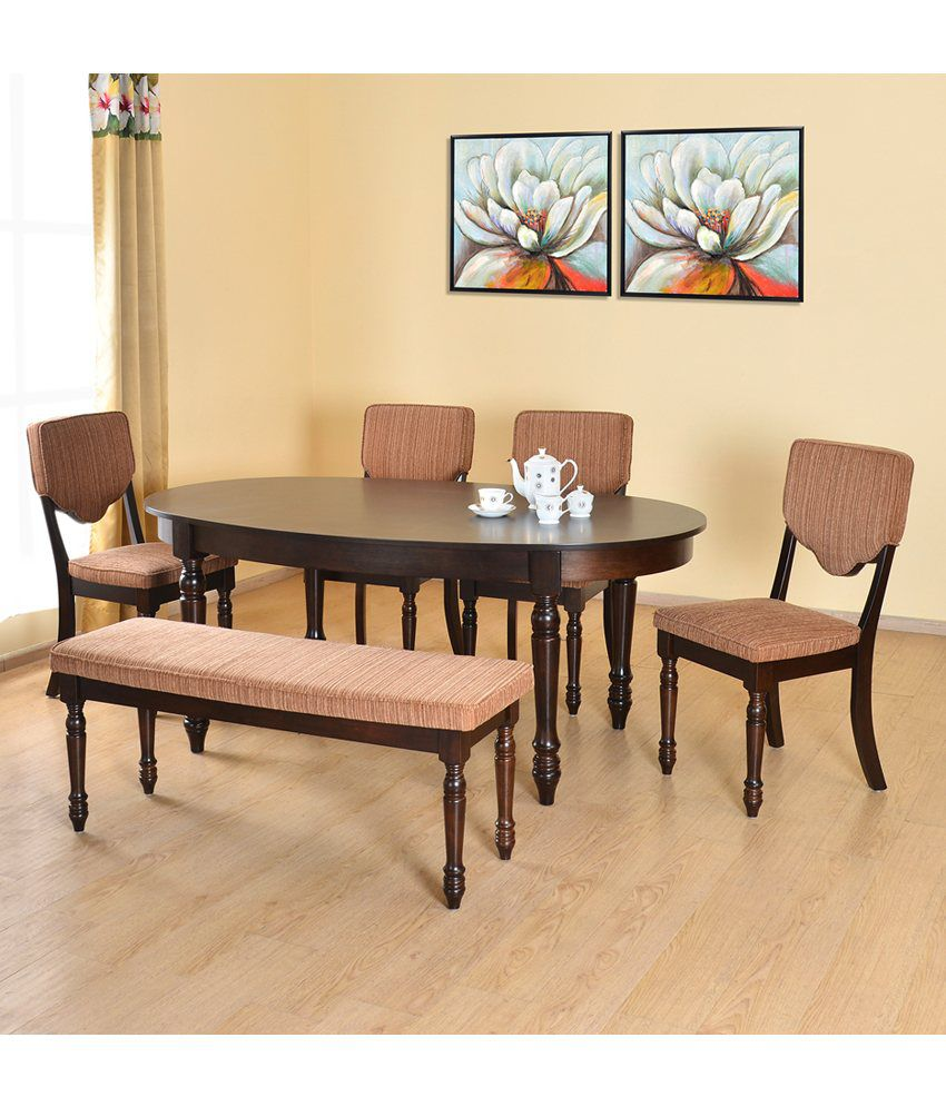 Home By Nilkamal Isabella Solid Wood 1 4 Bench Dining Set Buy Home By Nilkamal Isabella