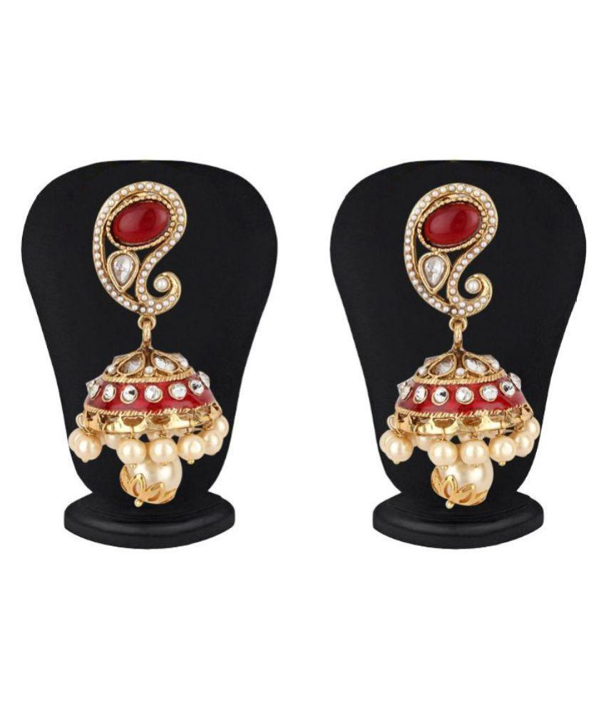 Jewels Guru Multicolour Jhumkis