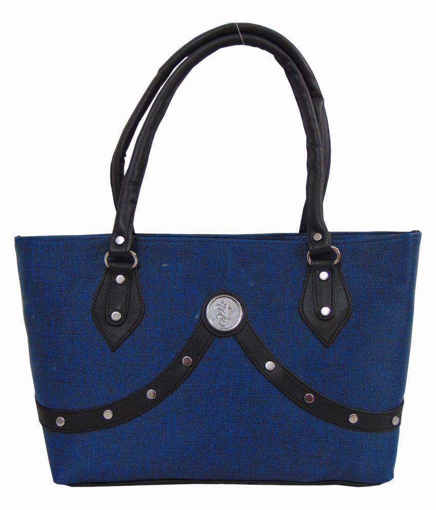 Estoss Blue Faux Leather Shoulder Bag