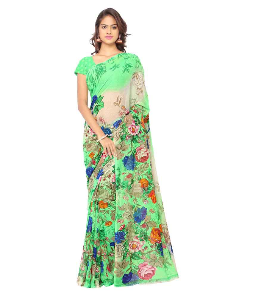 Fashion Storey Multicoloured Georgette Saree
