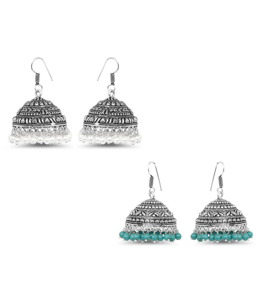 Johareez Multicolour Earrings - Set of 2